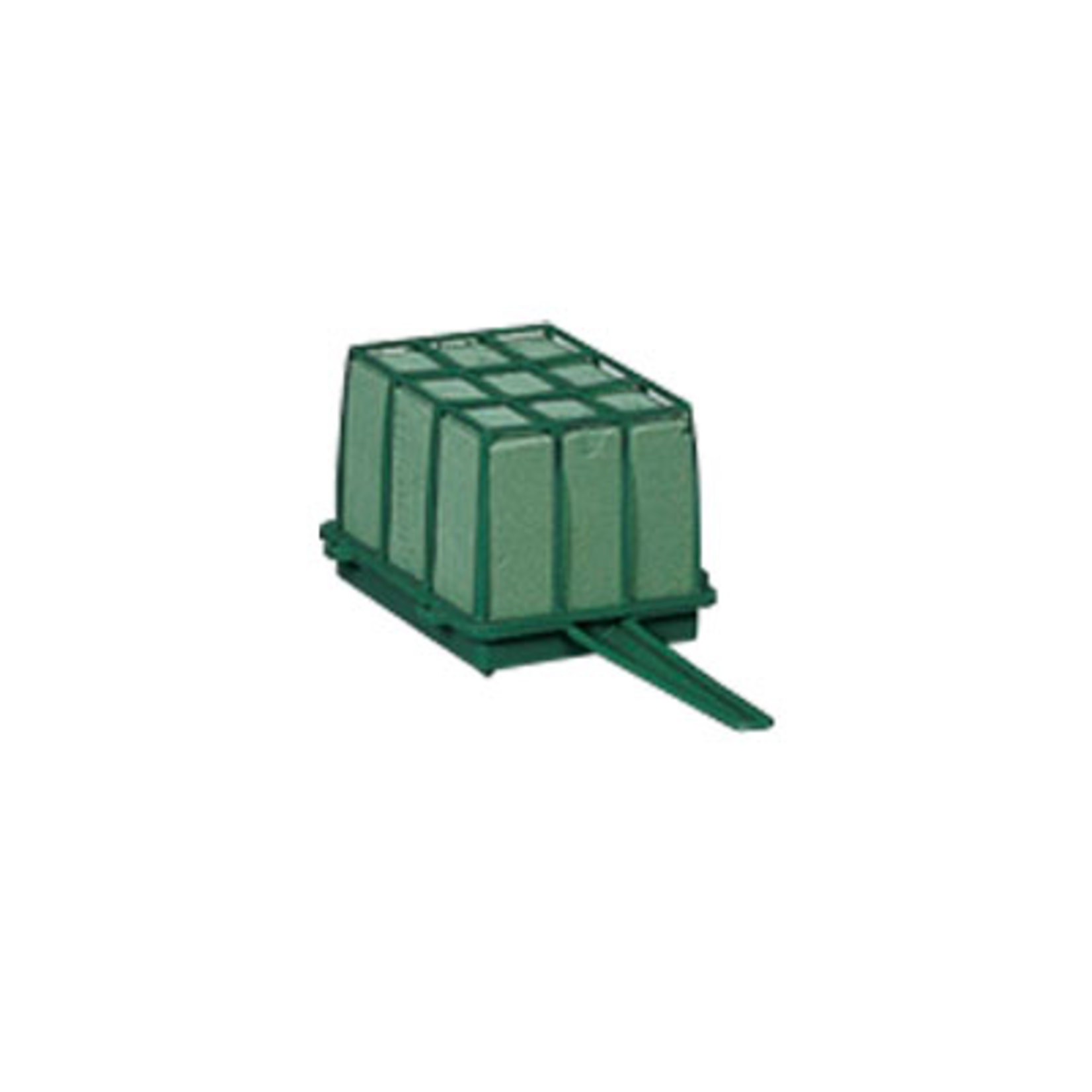 1/3 Brick Cage with Aquafoam - Green