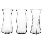 "8 1/2"""" Rose Vase Assortment - Crystal"