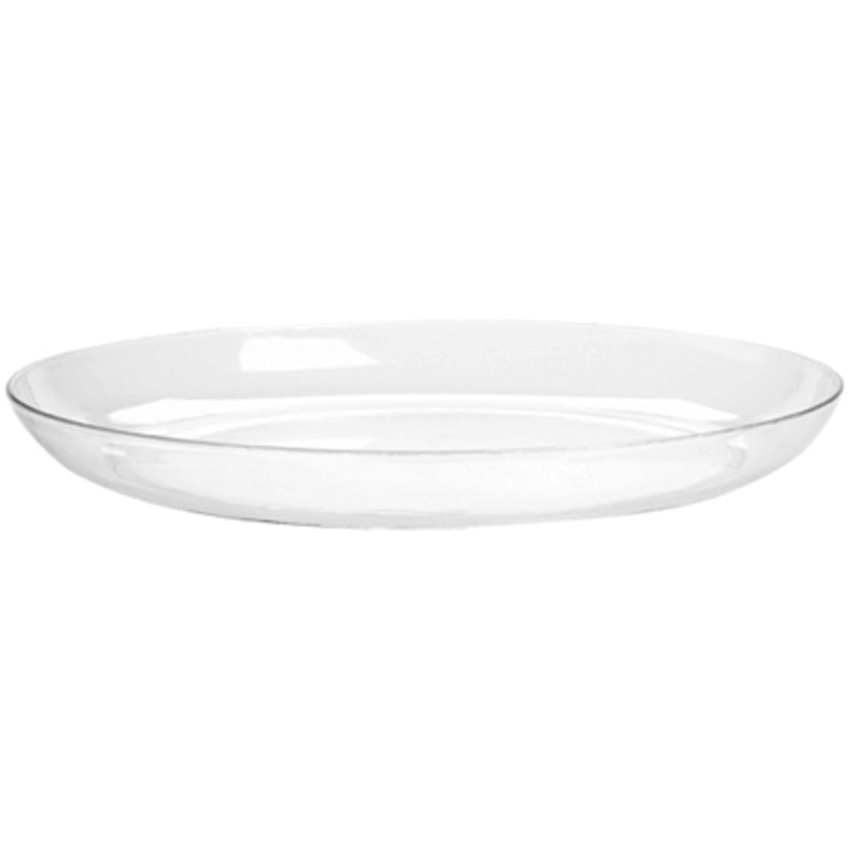"18"""" Designer Dish - Crystal"