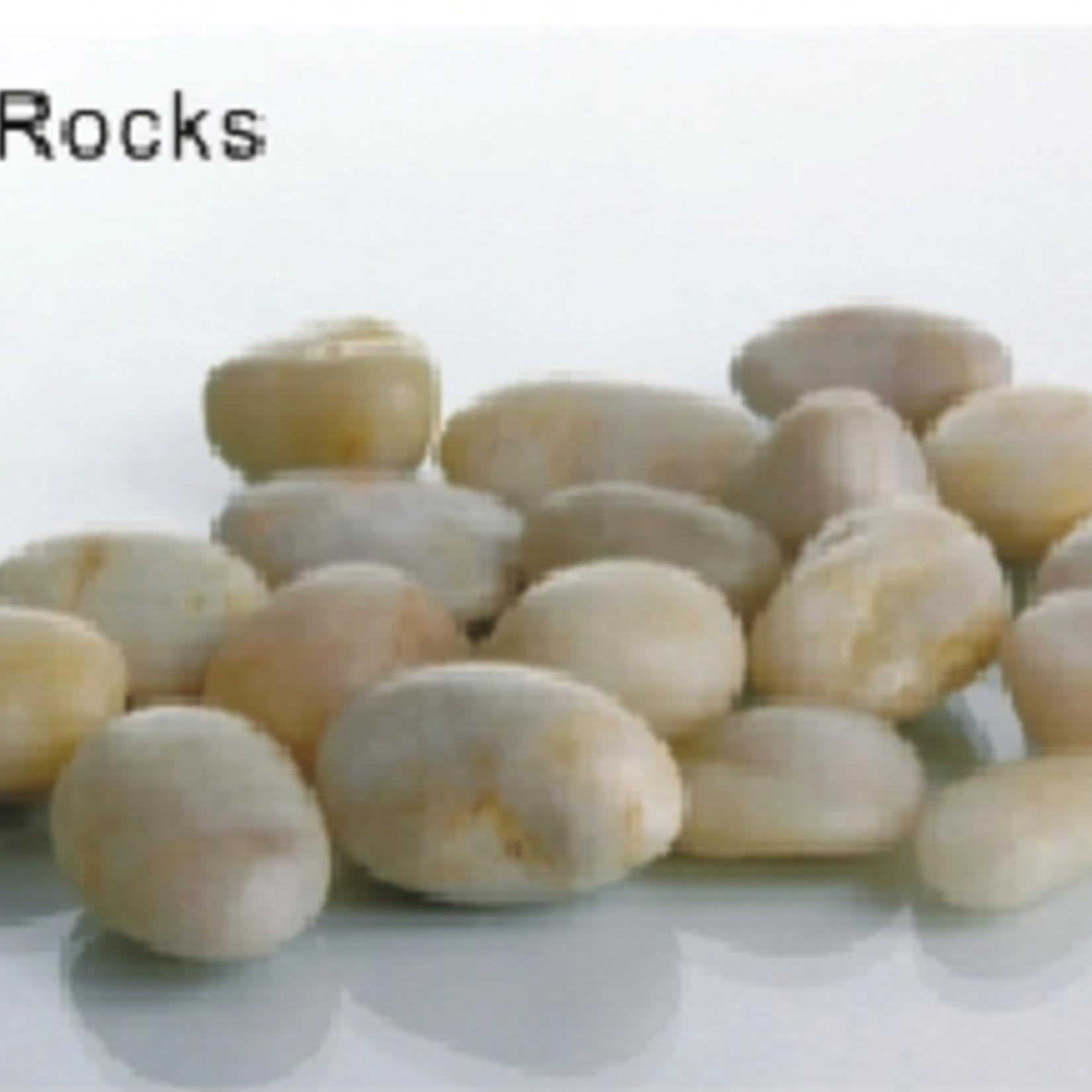 0.8-1CM, WHITE River Rocks PEBBLES  (10lbs/bag)WHITE, 10 LBS/BAG