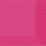 Bright Pink 2-Ply LUNCHEON Napkins 50ct