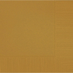 Gold 2-Ply Beverage Napkins 50ct