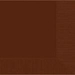 Chocolate Brown Beverage Napkins, 2-Ply - High Count