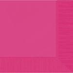 Bright Pink 2-Ply Beverage Napkins 50ct