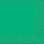 Festive Green 2-Ply Beverage Napkins 50ct