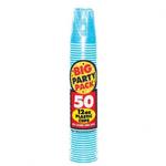 Caribbean Blue Plastic Cups 12oz 50ct