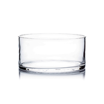 """Clear 8"""""""" Round Low Cylinder/Dish H4x D-8"""" box can be marked U9378(12) or G84(6)"""