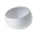 """5.25""""x 3.5""""H WHITE Simply Collection ANGLED BOWL (AD)"""
