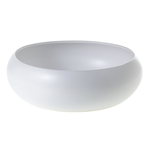 """13.75""""x 4.5"""" H WHITE Simply Collection LOW BOWL (AD)"""