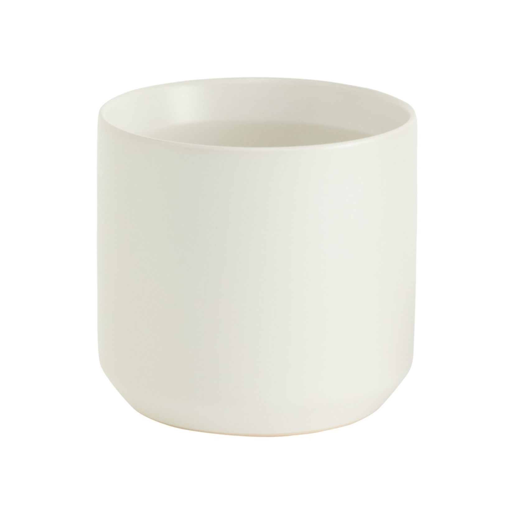 """4.5""""H X 4.75"""" WHITE KENDALL POT COLLECTION (AD)"""