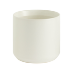 """6.75""""H X 7"""" WHITE  KENDALL POT COLLECTION (AD)"""