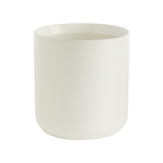 """9""""H X 8.5"""" WHITE  KENDALL POT COLLECTION (AD)"""