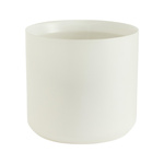 """10""""H X 10.75"""" WHITE  KENDALL POT COLLECTION (AD)"""