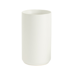 """8""""H X 4.5"""" WHITE  KENDALL VASE COLLECTION (AD)"""