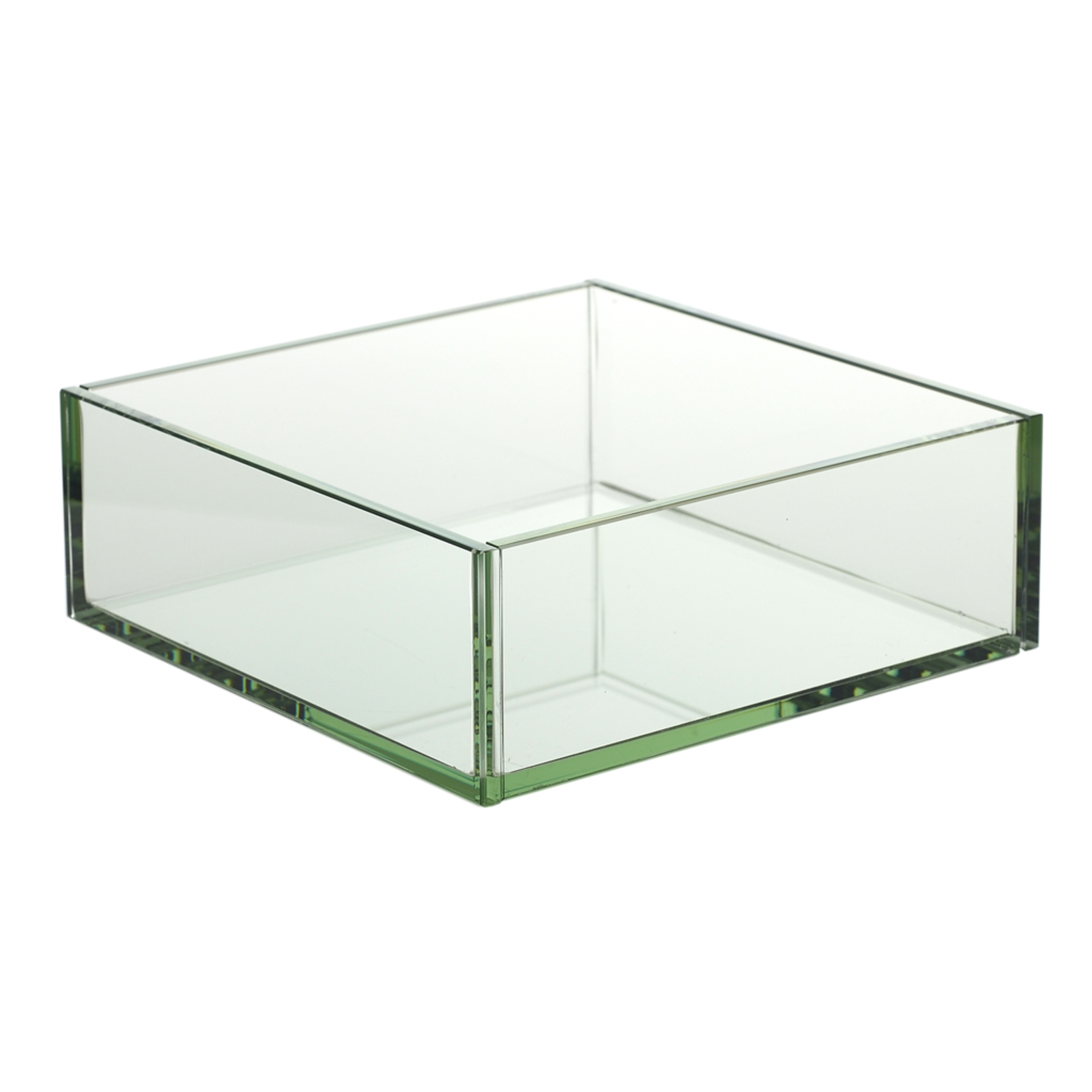 """3""""H X 9"""" X 9""""BOWL GLASS PLATED PLANTER  (AD)"""