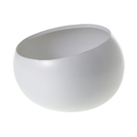"""7.5""""x 5.25""""H WHITE Simply Collection ANGLED BOWL (AD)"""