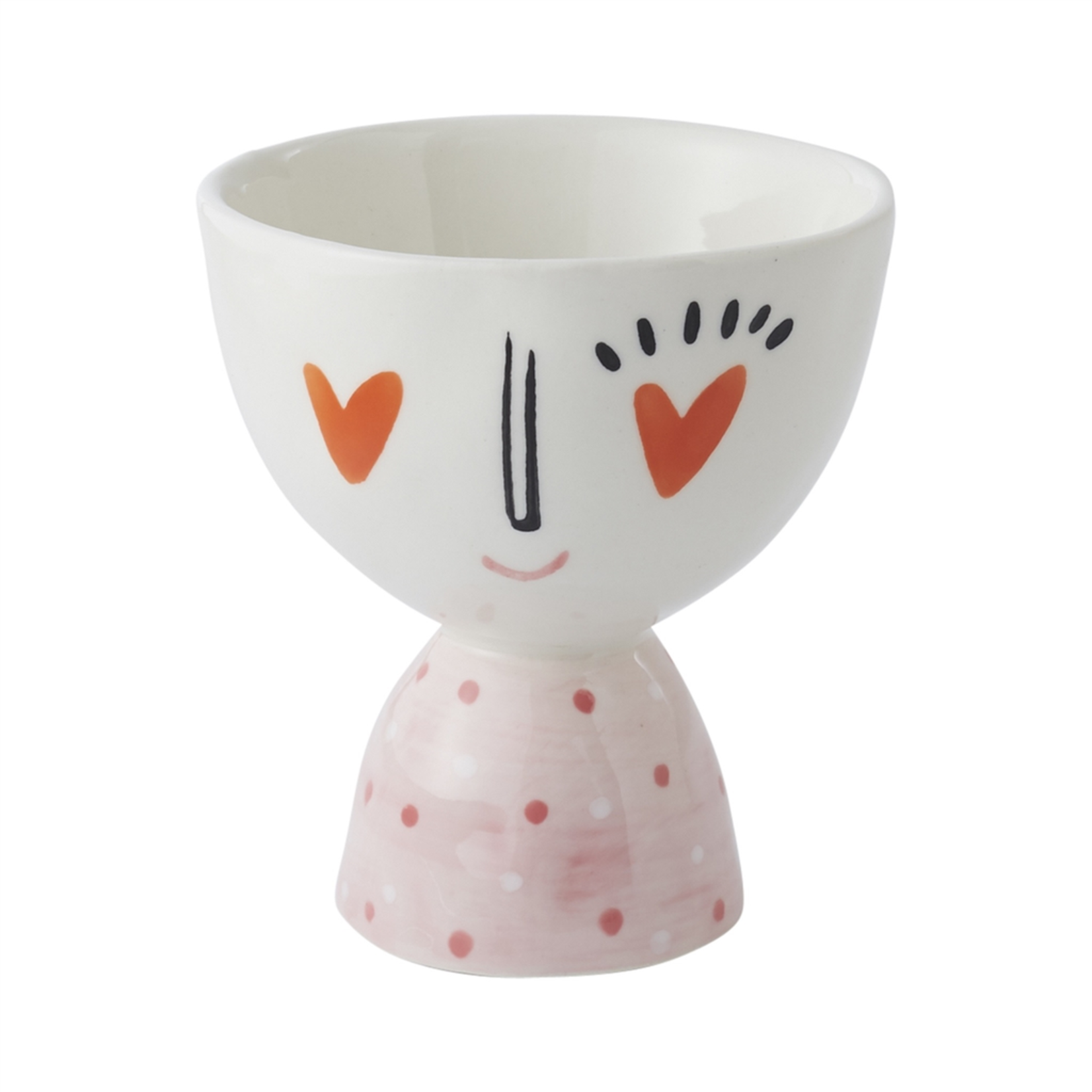 """3.5""""x 3.75""""H FOOTED BOWL HEART EYES (AD)"""