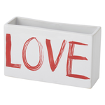 """6""""x 2""""x 4.5""""H PAINTED LOVE PLANTER (AD)"""