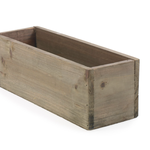 """4""""H X 12""""L X 4"""" NATURAL LOW RECTANGLE WOODLAND PLANTER (AD)"""
