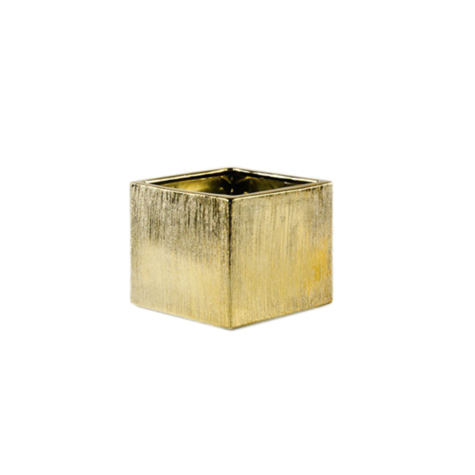 """3.75"""" x 3.75"""" x 3.75"""" GOLD ETCHED CUBE"""