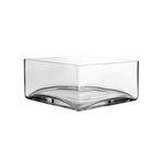 """Clear 8"""""""" Square Low square-Dish H-4"""""""" x Top 8""""""""x8"""""""""""