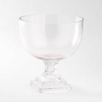"8.5""H X 7.5"" GLASS COMPOTE/PEDESTAL"