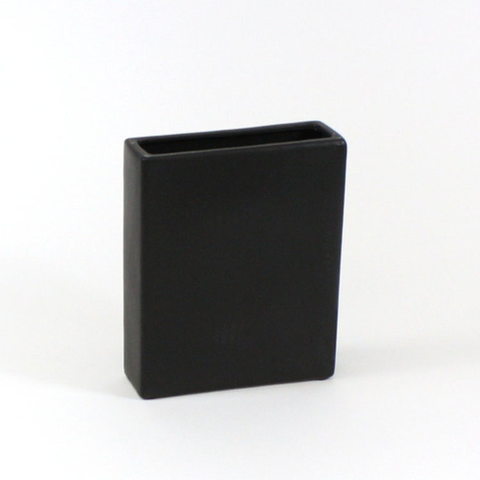 """10""""H X 8""""L X 2.5""""W BLACK Tall Flat Rectangle"""