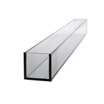 """4""""H X 36""""L X 4""""W LOW RECTANGLE PLATE GLASS"""