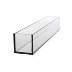"""4""""H X 24""""L X 4""""W LOW RECTANGLE PLATE GLASS"""