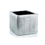 """5""""H X 5"""" X 5"""" SILVER ETCHED CUBE"""