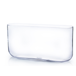 """8""""H X 16""""L X 3""""W RECTANGLE VASE WITH ROUNDED CORNERS"""