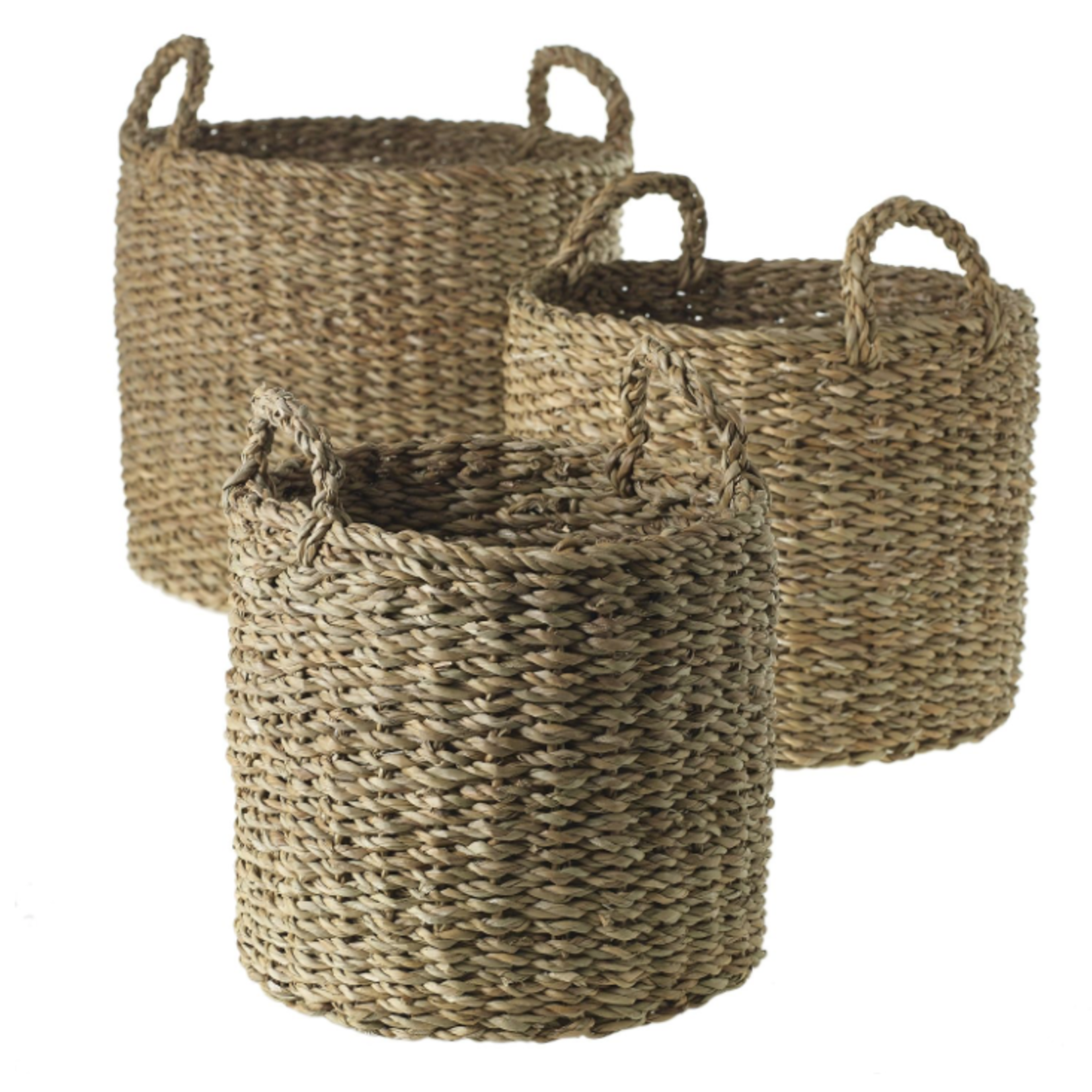 """10""""/12""""/13.5"""" - Set of 3  HACIENDA BASKET ONSOLD BY THE SET OF 3 (AD)"""