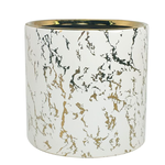 """8"""" X 8"""" MARBLE CYLINDER PLANTER"""