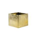 """Etched Gold 4"""""""" Cube H-4"""""""", Top-4""""""""x4"""""""""""