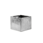 """Etched Silver 4"""""""" Cube H-4"""""""", Top-4""""""""x4"""""""""""