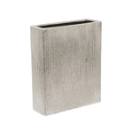 """Etched Silver  10"""""""" Block H-10"""""""", Top-8""""""""x2.5"""""""""""