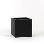 "Satin Black Square Vase / Planter 5""h x 5.5"" x 5.5"""