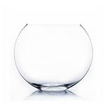 """Clear Large Moon Vase H-13"""""""" x D-16"""""""""""