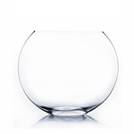 "Clear Med Moon Vase H-10"""" x D-12"""""