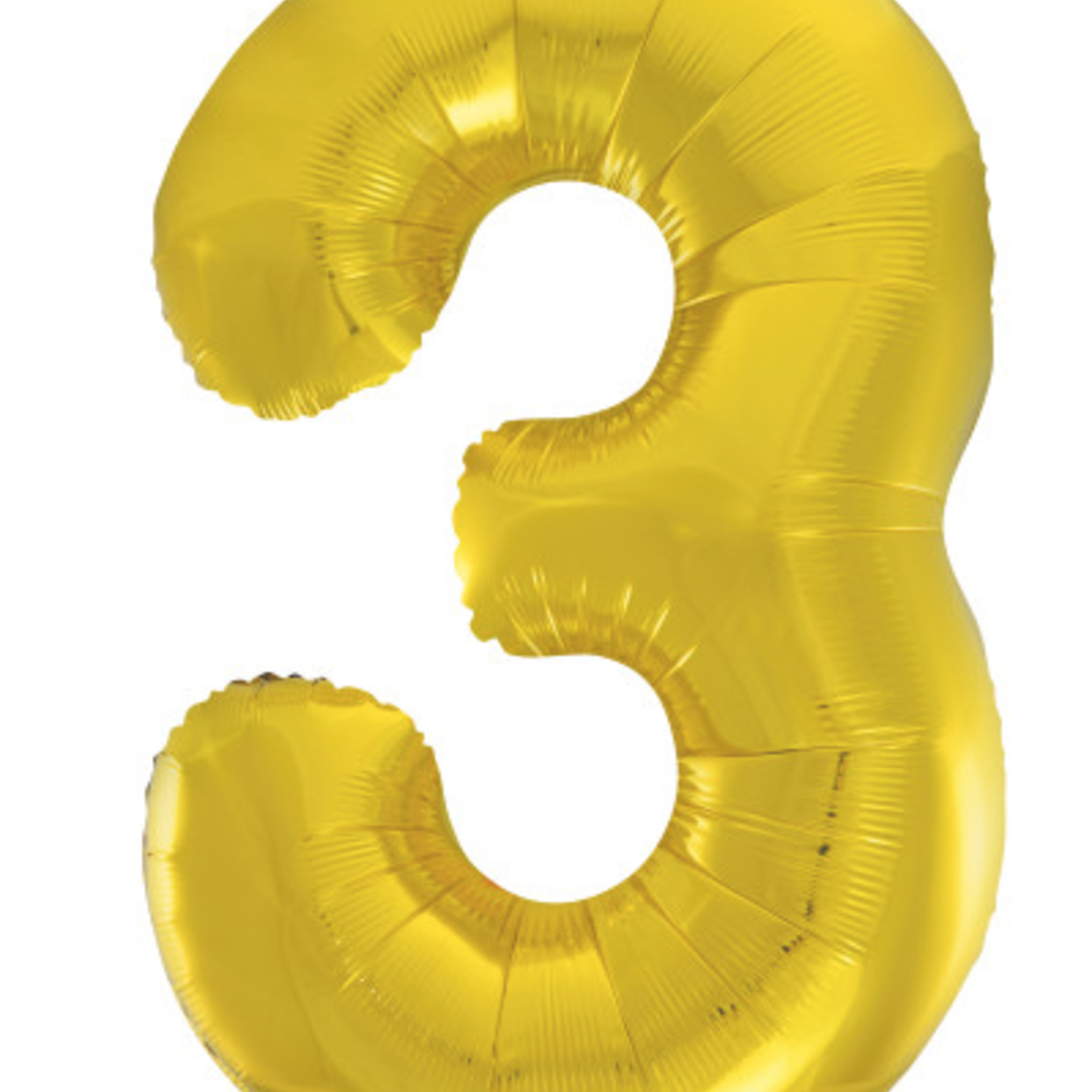 "GOLD 16"" FOIL BALLOON ""3"""