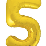 "GOLD  16"" FOIL BALLOON ""5"""