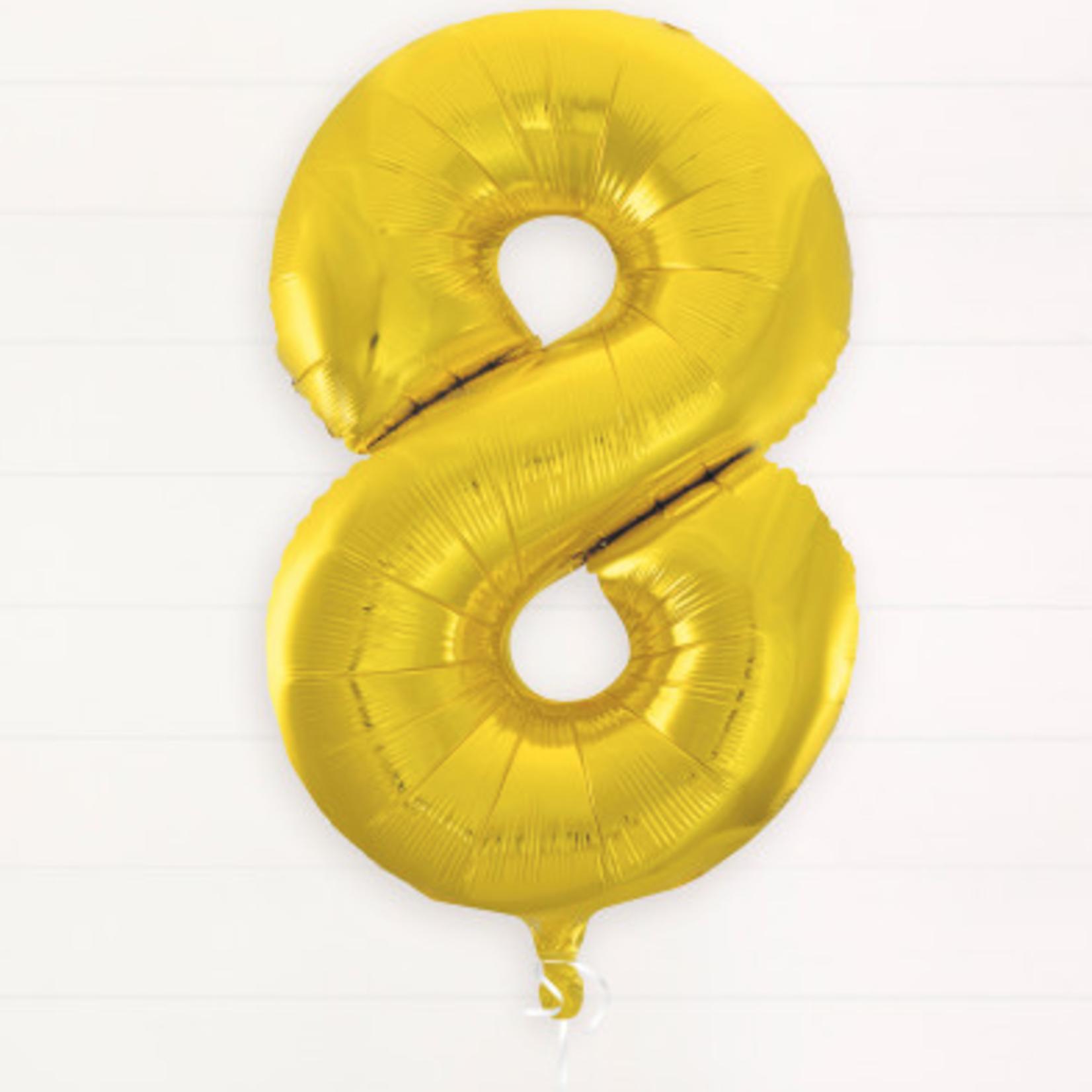 "GOLD  16"" FOIL BALLOON ""8"""