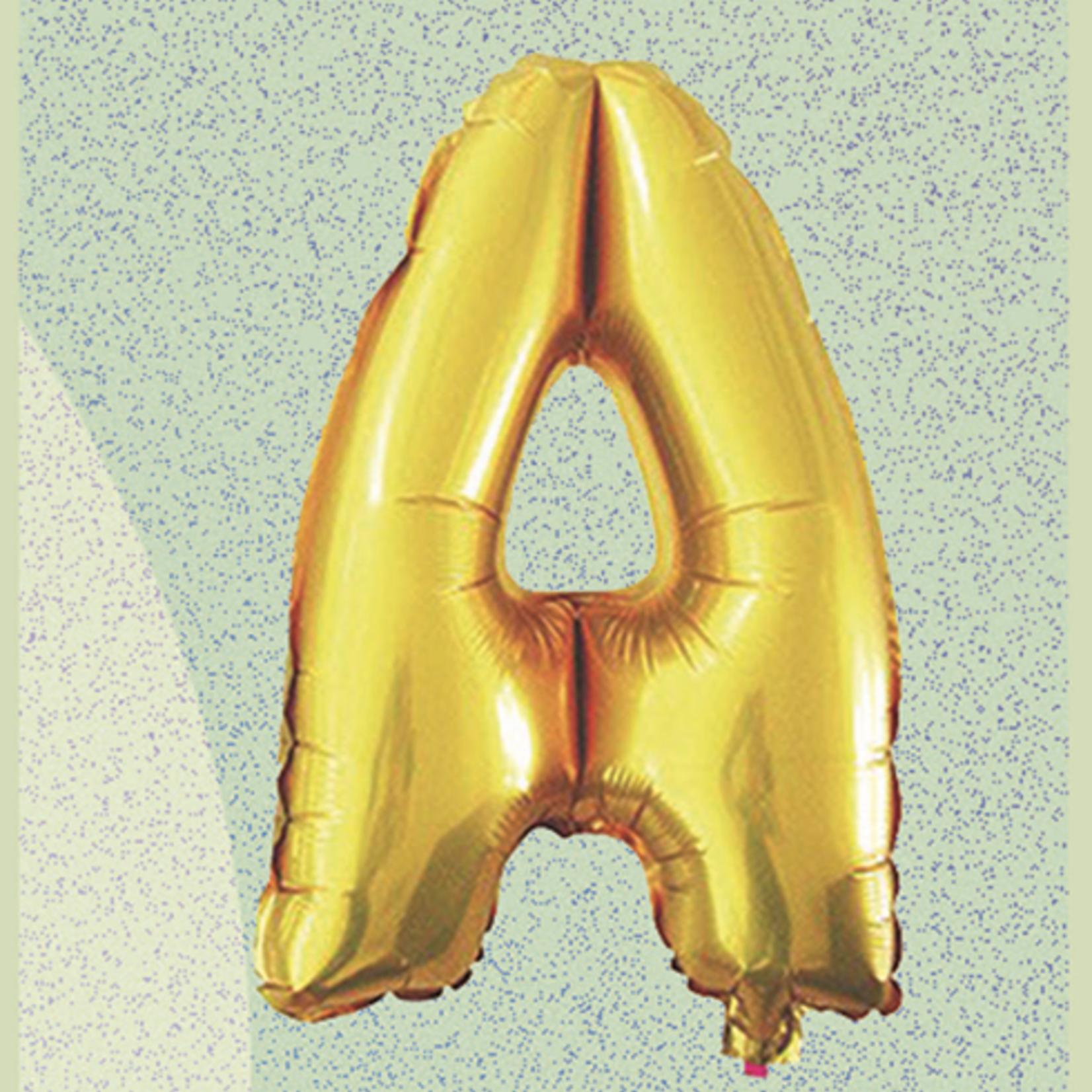 "16'' FOIL BALLOON GOLD ""A"", 1 PC"