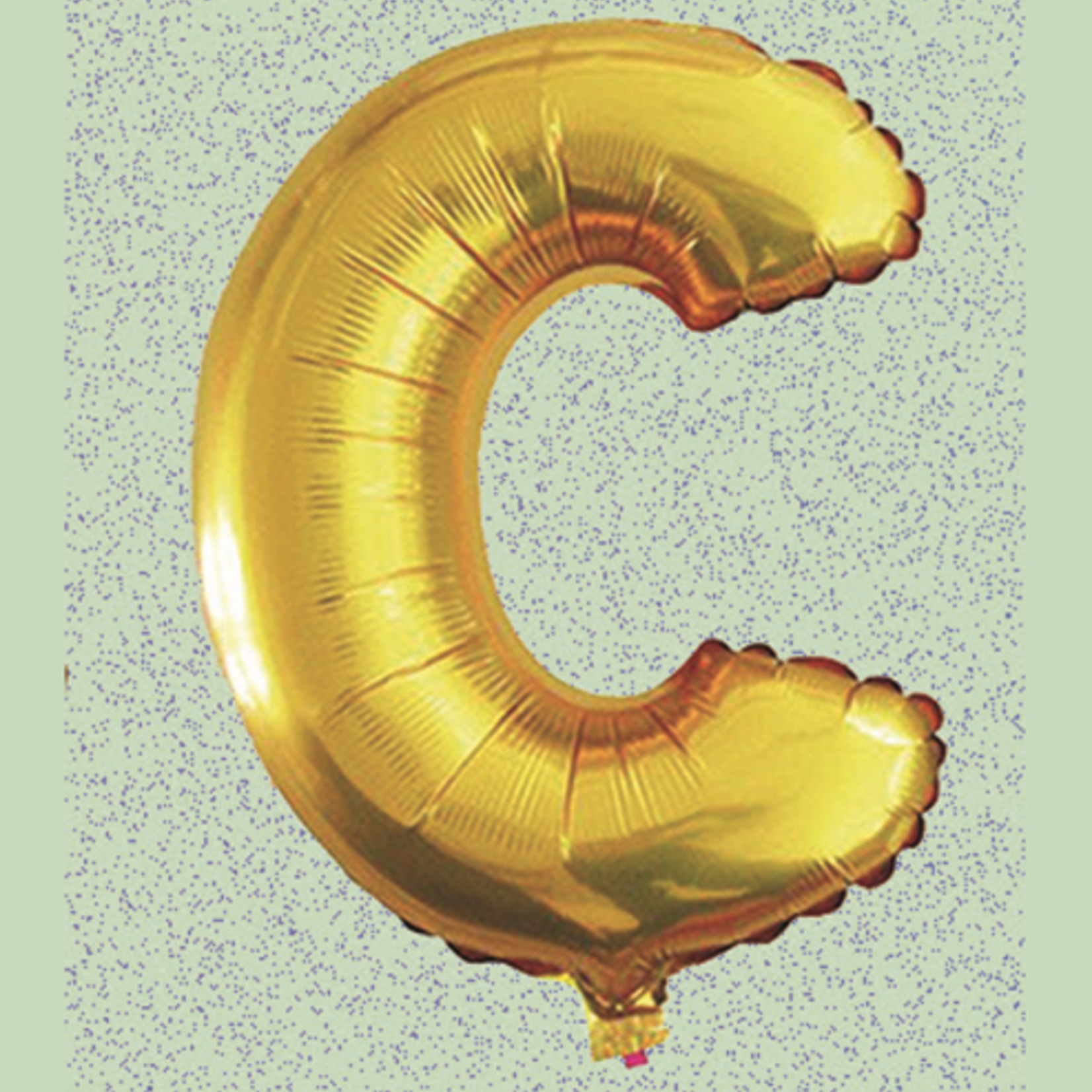 """16"""" FOIL BALLOON """"C"""" GOLD, 1 PC/PACK"""