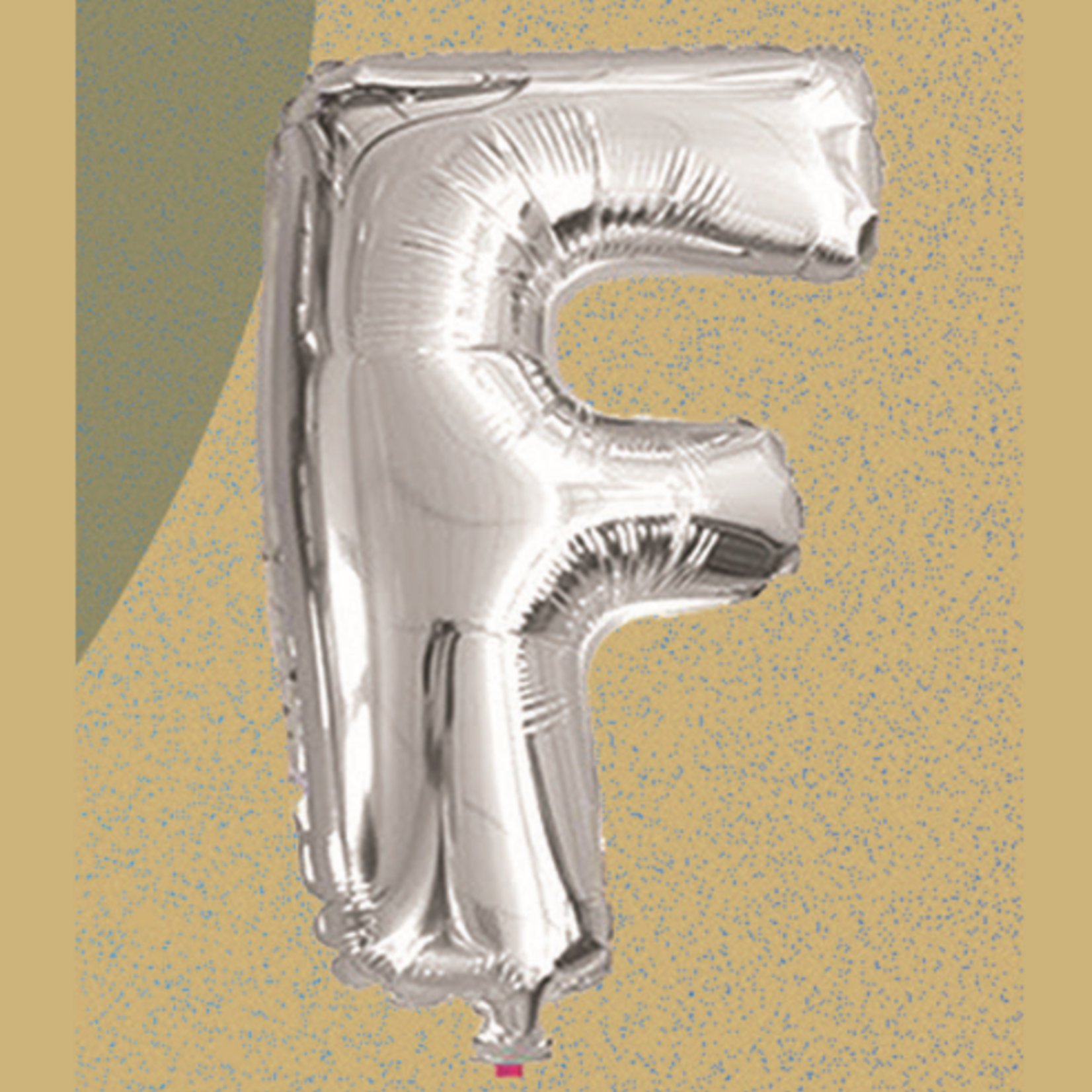 """16"""" FOIL BALLOON """"F"""" SILVER, 1 PC/PACK"""