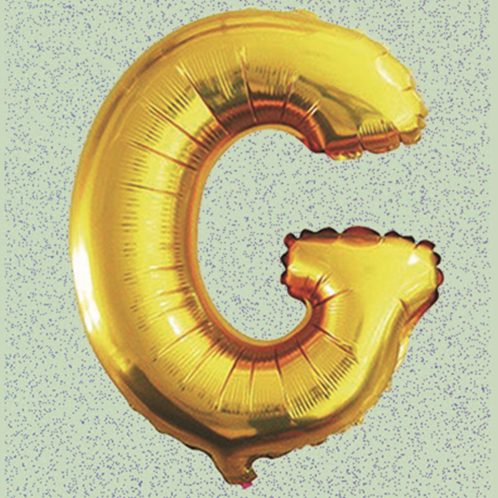 "16"" FOIL BALLOON ""G"" GOLD, 1 PC/PACK"