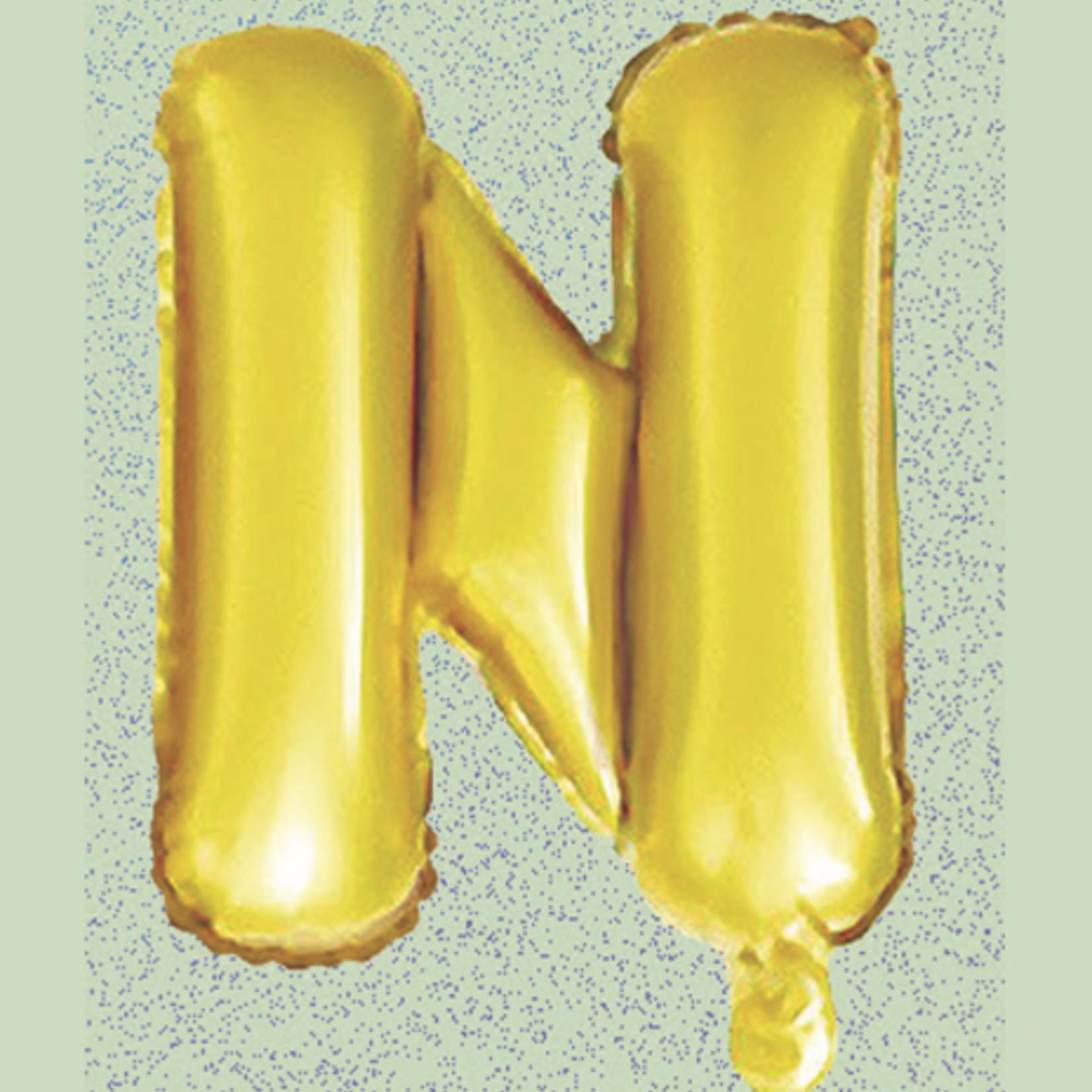 "16"" FOIL BALLOON ""N"" GOLD, 1 PC/PACK"