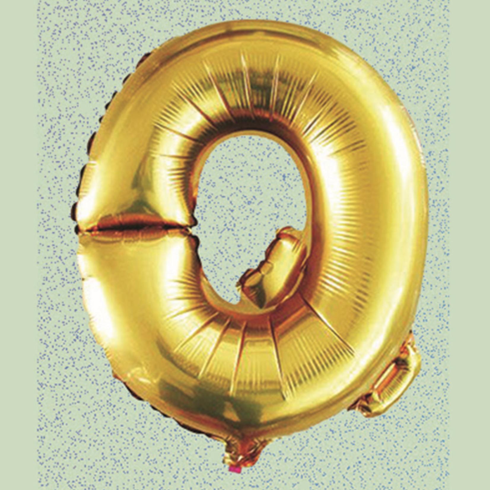 "16"" FOIL BALLOON ""Q"" GOLD, 1 PC/PACK"