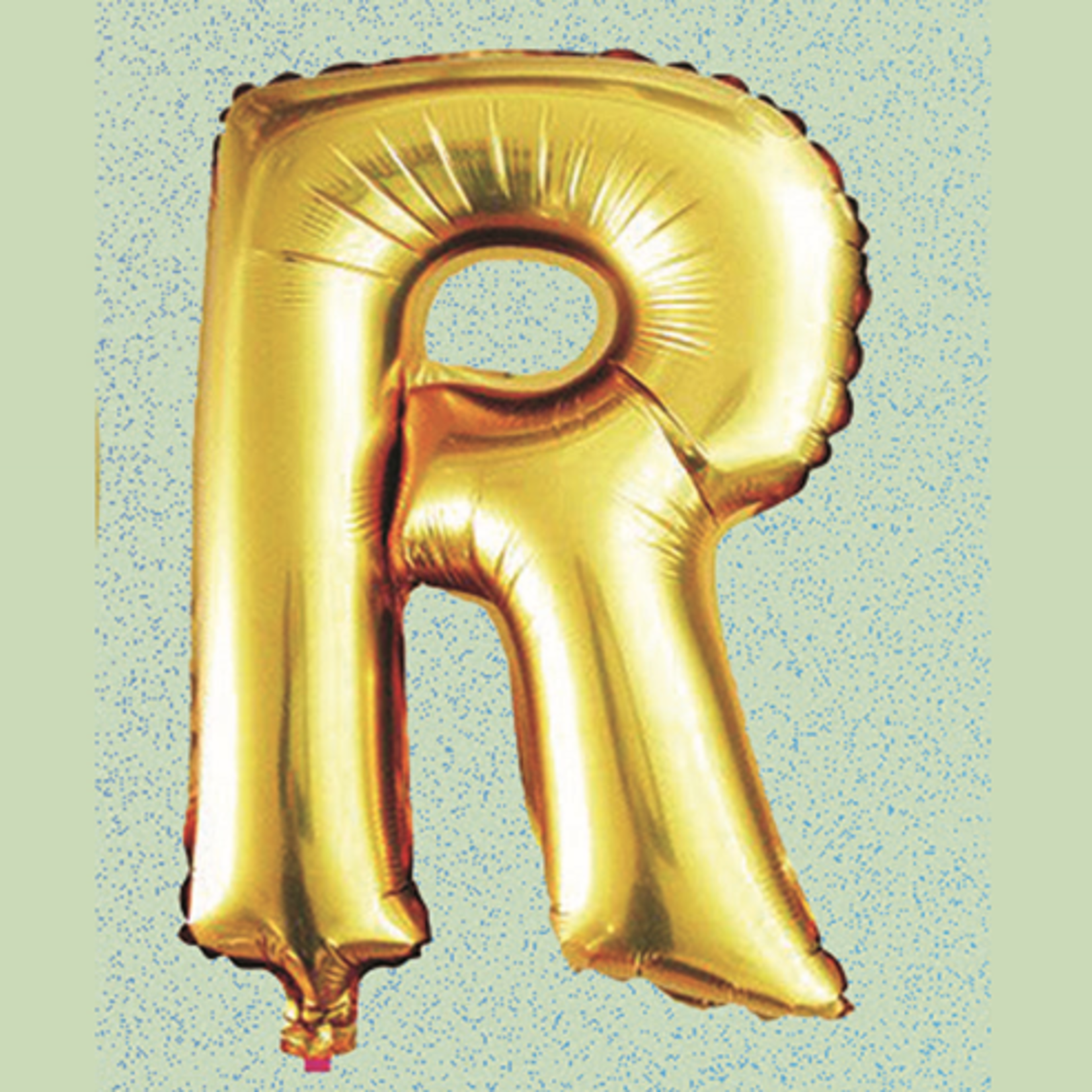 """16"""" FOIL BALLOON """"R"""" GOLD, 1 PC/PACK"""