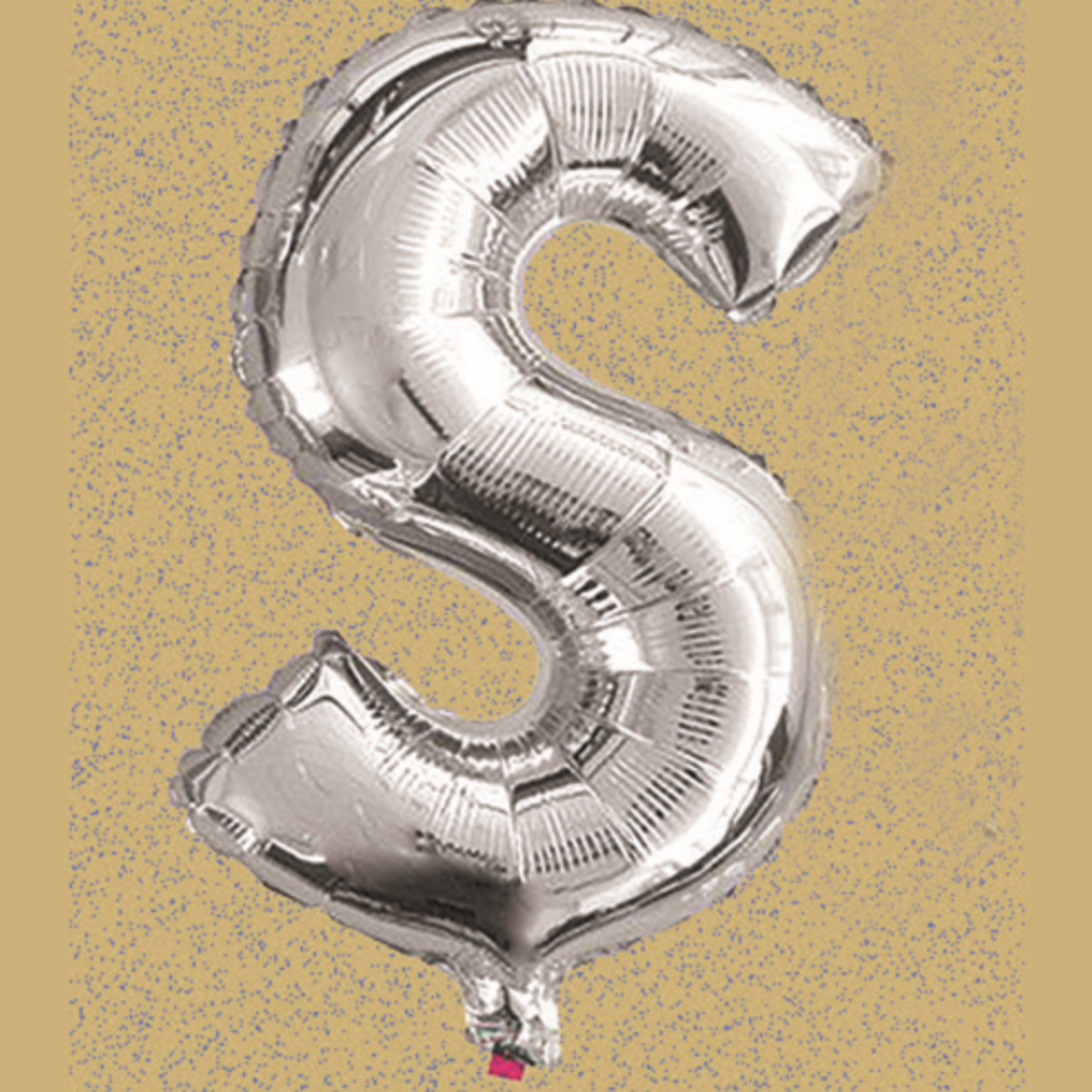 """16"""" FOIL BALLOON """"S"""" SILVER, 1 PC/PACK"""